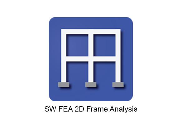 SW FEA 2D Frame Analysis